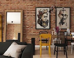 Dom jednorodzinny Kraków - Tyniec - Średnia otwarta szara jadalnia w salonie, styl industrialny - zdjęcie od art-park sp. z o.o.