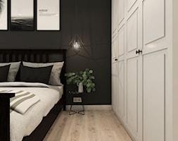Nowoczesne mieszkanie na krakowskim Płaszowie - Mała czarna sypialnia małżeńska, styl nowoczesny - zdjęcie od art-park sp. z o.o.