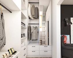 SYPIALNIA NA PODDASZU - Czarnochowice k. Krakowa - Średnia otwarta garderoba przy sypialni, styl nowoczesny - zdjęcie od art-park sp. z o.o.