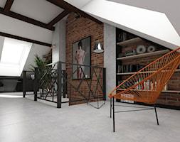 Dom jednorodzinny Kraków - Tyniec - Średnie białe biuro na poddaszu - zdjęcie od art-park sp. z o.o.
