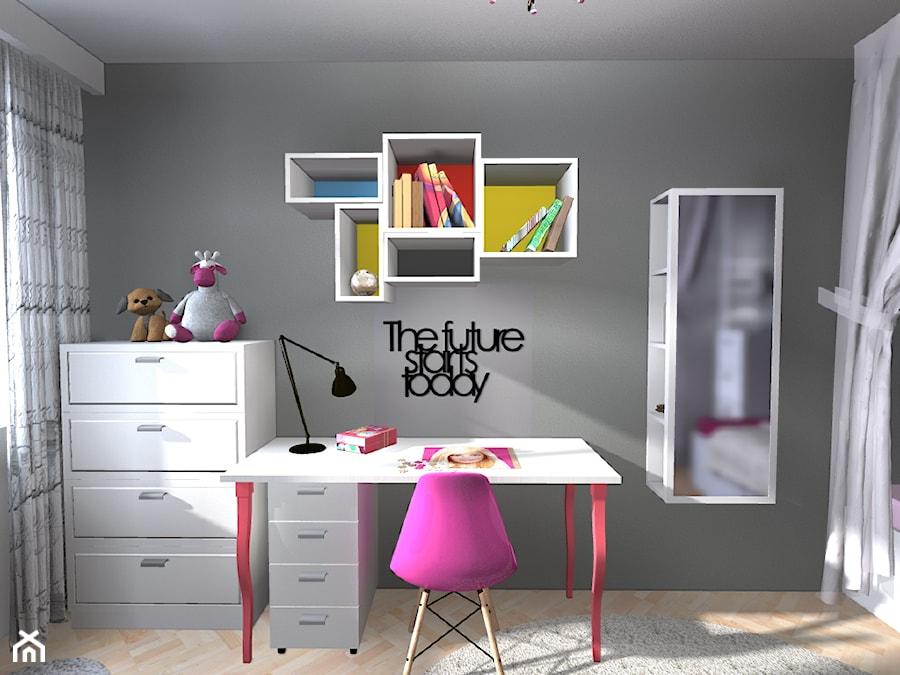 Pokój dla dziewczynki w wieku 7 lat  zdjęcie od Marta Dadura Projektowanie i   -> Kuchnia Dla Dziecka Od Jakiego Wieku