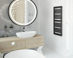 SLIM - Mała biała łazienka na poddaszu w bloku w domu jednorodzinnym bez okna, styl skandynawski - zdjęcie od Instal Projekt