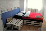 pomysł na łóżko z palet