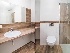 metamorfoza 34 m2 w 5 tygodni od wejścia - Mała biała łazienka na poddaszu w bloku w domu jednorodzinnym bez okna - zdjęcie od REMLINE projekt i realizacja
