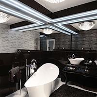 Tapety glamour w łazience ! - La Poem Furniture, Łazienka, Dekoracja ścian