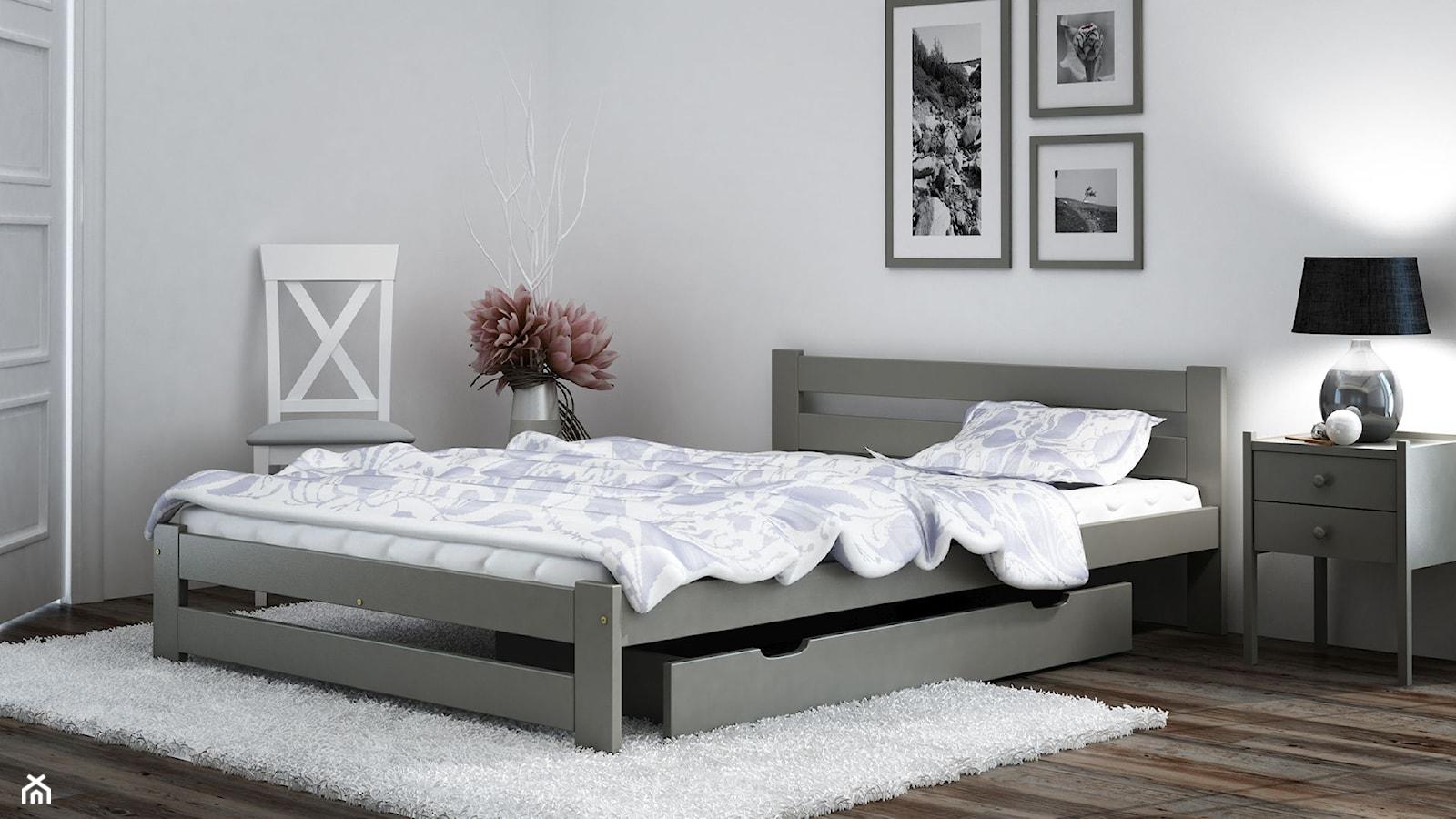 Meble Magnat - łóżko Kada w kolorze szarym - zdjęcie od Zuzanna Taraszewska - Homebook