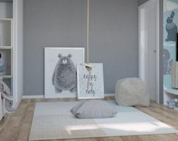 Pokoik Oliwiera - Duży szary kolorowy pokój dziecka dla chłopca dla dziewczynki dla malucha dla nastolatka, styl nowoczesny - zdjęcie od Małgorzata Rosińska