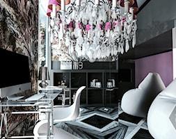 HOUSE OF ART - Mały szary fioletowy pokój dziecka dla chłopca dla dziewczynki dla ucznia dla nastolatka, styl glamour - zdjęcie od VEYAZDESIGN