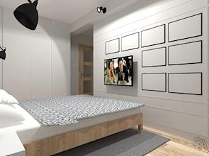 Na Niebiesko - Średnia szara sypialnia małżeńska, styl nowoczesny - zdjęcie od 2A DESIGN