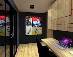 Dla Miłośników Sztuki POP-ART - Średnie czarne biuro kącik do pracy, styl nowojorski - zdjęcie od 2A DESIGN