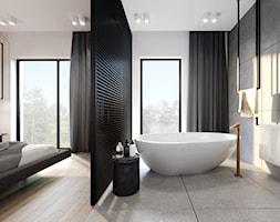 Apartament Cuprum - Mała łazienka w bloku w domu jednorodzinnym z oknem, styl nowoczesny - zdjęcie od KANDO ARCHITECTS