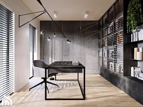 Apartament Cuprum - Średnie szare biuro pracownia, styl nowoczesny - zdjęcie od KANDO ARCHITECTS