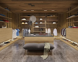 Dom dębem otulony - Duża zamknięta garderoba, styl nowoczesny - zdjęcie od KANDO ARCHITECTS