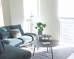 Apartament Złota 44 - Mały szary salon, styl minimalistyczny - zdjęcie od KANDO ARCHITECTS