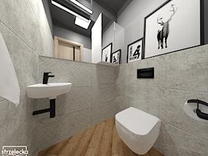 Toaleta w ciemnych odcieniach