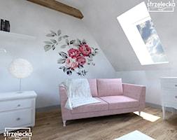 Pokój dla dziewczynki - Mały biały pokój dziecka dla dziewczynki dla malucha, styl klasyczny - zdjęcie od Strzelecka Design