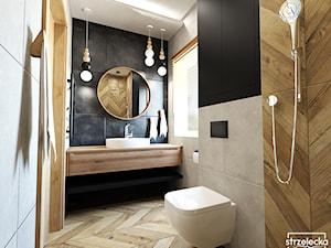 Łazienka w kolorze antracytu