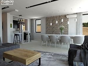 Salon z jadalnią w nowoczesnym stylu