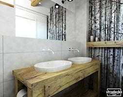 Łazienka w stylu Modern Farmhouse - Mała szara łazienka w bloku w domu jednorodzinnym bez okna, styl vintage - zdjęcie od Strzelecka Design