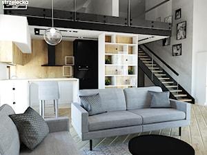 Salon z jadalnią w loftowym stylu