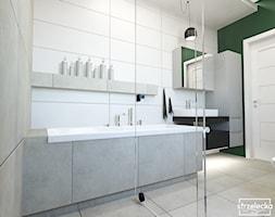 Projekt łazienki w domu we Wrocławiu - Średnia zielona łazienka w bloku w domu jednorodzinnym bez okna, styl minimalistyczny - zdjęcie od Strzelecka Design