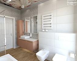Łazienka z meblami w kolorze koralowym - Łazienka, styl nowoczesny - zdjęcie od Strzelecka Design - Homebook