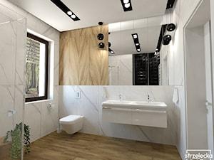 Projekt łazienki w wykorzystaniem ponadczasowej Calacatty :)