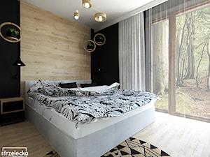 Sypialnia z garderobą - dom w lesie