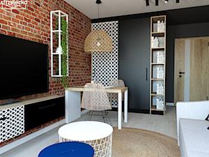 Salon w loftowym klimacie