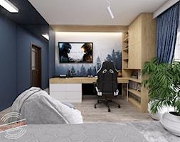 Pokój dziecięcy TK - Średni niebieski pokój dziecka dla chłopca dla ucznia dla nastolatka, styl ska ... - zdjęcie od Retro Studio - Homebook