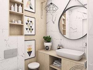 Mała łazienka - wersja I - zdjęcie od Retro Studio