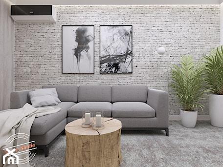 Aranżacje wnętrz - Salon: Mieszkanie 57 m2 - Średni szary salon, styl skandynawski - Retro Studio. Przeglądaj, dodawaj i zapisuj najlepsze zdjęcia, pomysły i inspiracje designerskie. W bazie mamy już prawie milion fotografii!