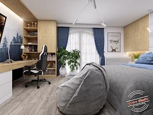 Pokój dziecięcy TK - Średni biały pokój dziecka dla chłopca dla ucznia dla nastolatka, styl nowoczesny - zdjęcie od Retro Studio