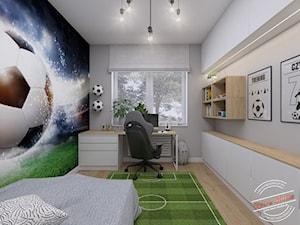 Pokój 7latka 12,45 m2 - Pokój dziecka, styl skandynawski - zdjęcie od Retro Studio