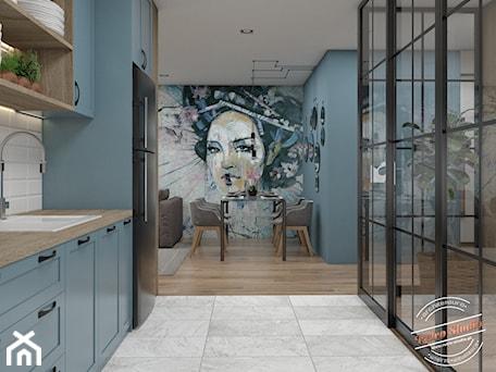 Aranżacje wnętrz - Jadalnia: Mieszkanie 55m2 - Retro Studio. Przeglądaj, dodawaj i zapisuj najlepsze zdjęcia, pomysły i inspiracje designerskie. W bazie mamy już prawie milion fotografii!