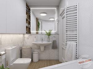 Projekt łazienki w domu szeregowym - zdjęcie od Retro Studio