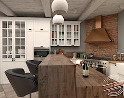 kuchnia z jadalnia - wersja I - zdjęcie od Retro Studio
