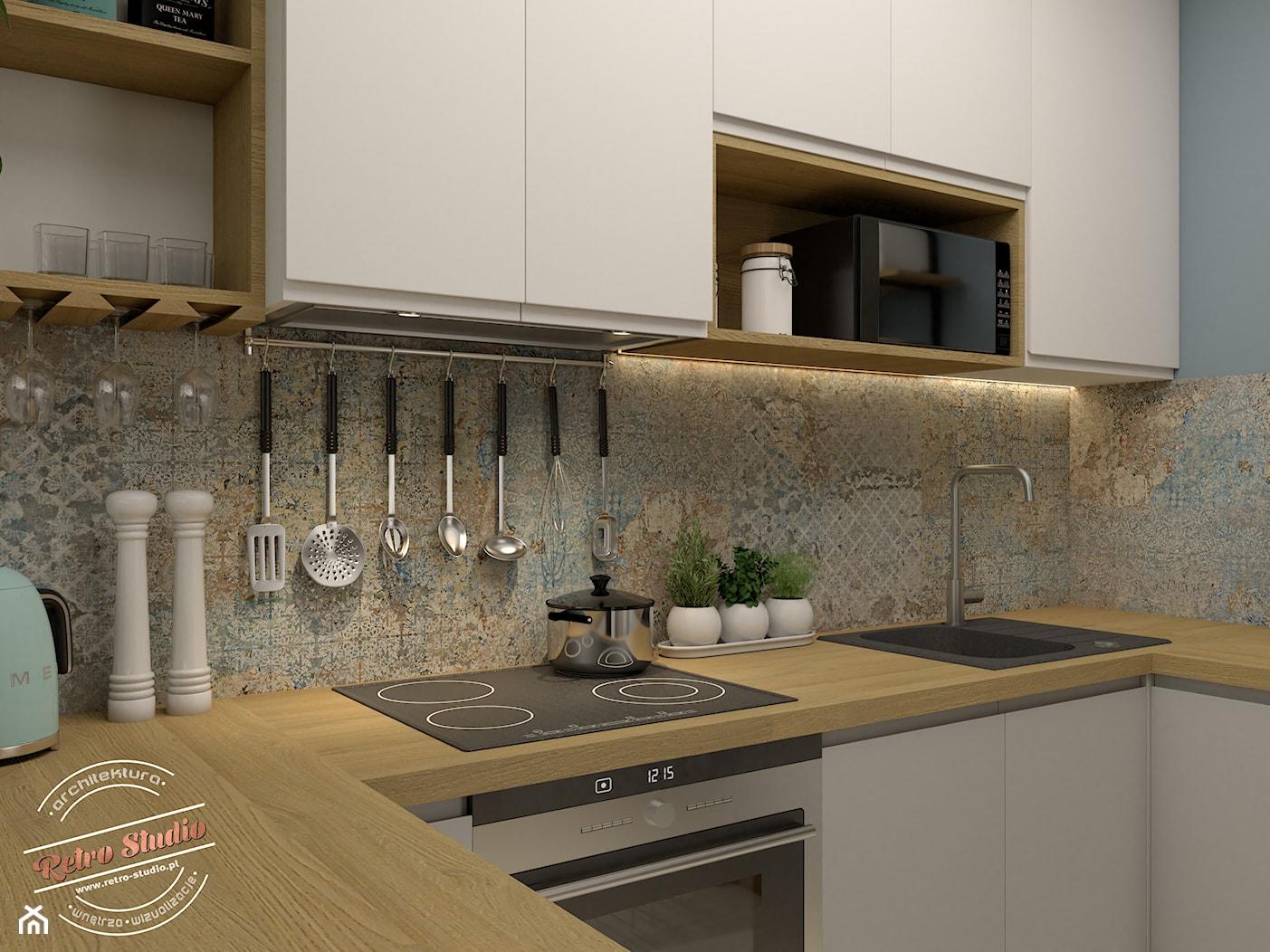 Kuchnia 6m2 - zdjęcie od Retro Studio - Homebook