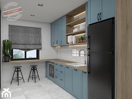 Aranżacje wnętrz - Kuchnia: Mieszkanie 55m2 - Retro Studio. Przeglądaj, dodawaj i zapisuj najlepsze zdjęcia, pomysły i inspiracje designerskie. W bazie mamy już prawie milion fotografii!