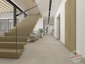 Korytarz, schody dywanowe dębowe - zdjęcie od Retro Studio