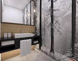Toaleta 2,5 m2 - Mała szara łazienka w bloku w domu jednorodzinnym bez okna, styl nowoczesny - zdjęcie od Retro Studio - Homebook