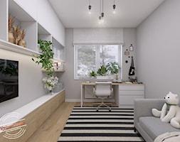Pokój nastolatki 12,45 m2 - Pokój dziecka, styl skandynawski - zdjęcie od Retro Studio - Homebook