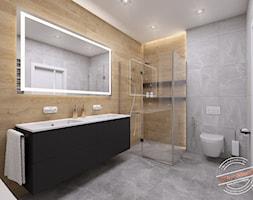 Łazienka 8 m2 - Średnia szara łazienka bez okna, styl industrialny - zdjęcie od Retro Studio - Homebook