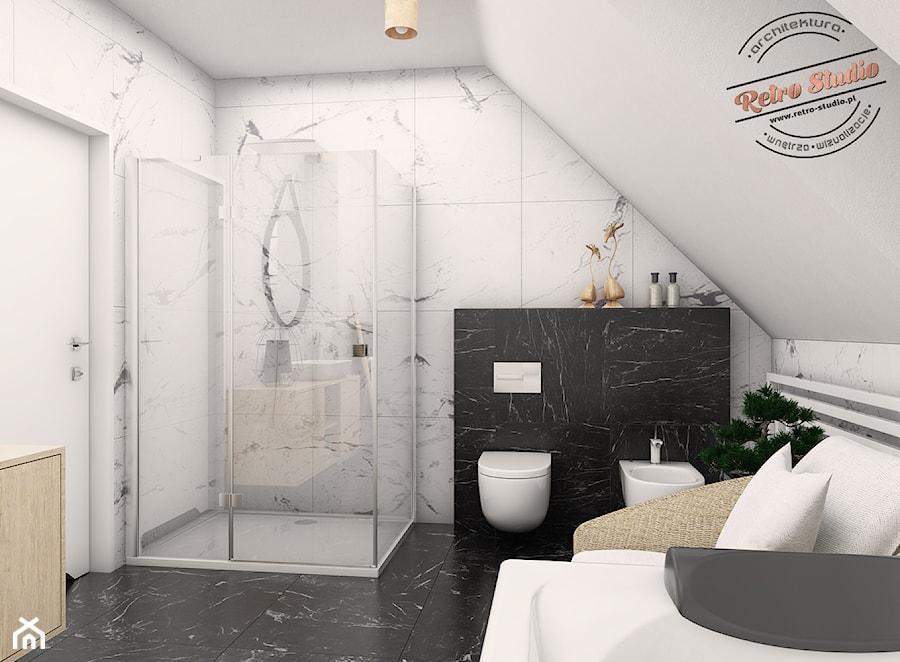 Duża łazienka - wersja I - zdjęcie od Retro Studio