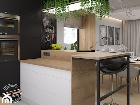 Aranżacje wnętrz - Kuchnia: Kuchnia 13,5 m2 - Retro Studio. Przeglądaj, dodawaj i zapisuj najlepsze zdjęcia, pomysły i inspiracje designerskie. W bazie mamy już prawie milion fotografii!