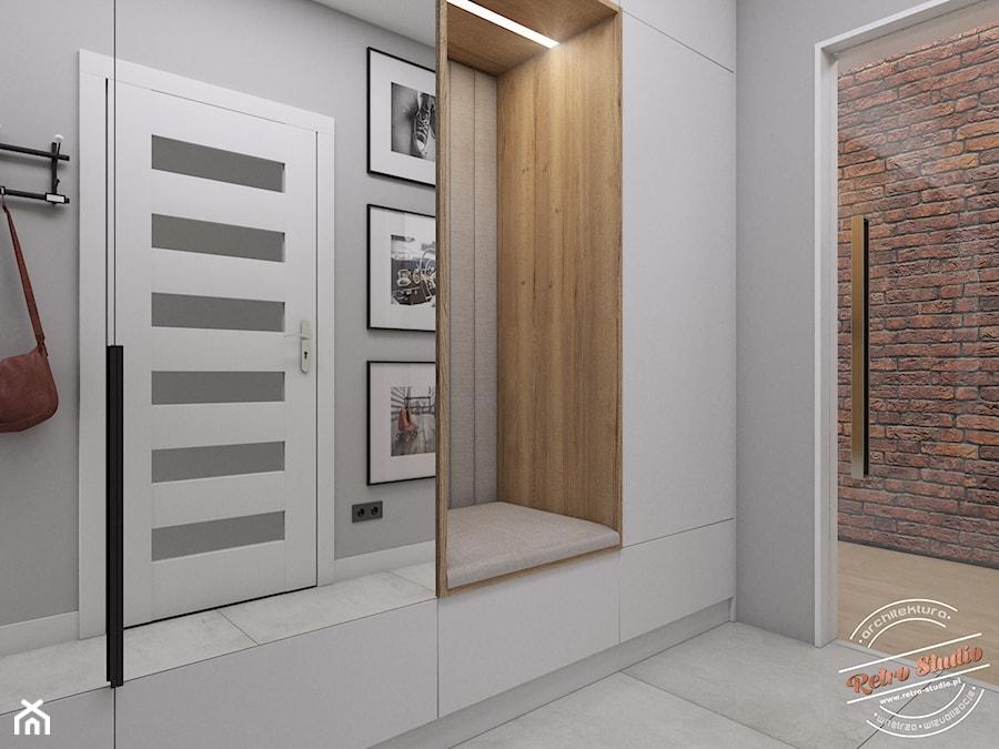 Aranżacje wnętrz - Hol / Przedpokój: Hol 6 m2 - Retro Studio. Przeglądaj, dodawaj i zapisuj najlepsze zdjęcia, pomysły i inspiracje designerskie. W bazie mamy już prawie milion fotografii!