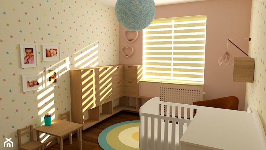 Średni szary pokój dziecka dla chłopca dla dziewczynki dla ucznia dla niemowlaka, styl nowoczesny - zdjęcie od Cud Miód Plan