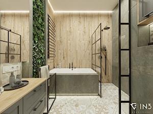 Stylowa łazienka z elementami miedzianymi - zdjęcie od Cerames