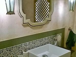 Płytki marokańskie elementem ozdobnym w łazience