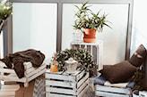 stolik balkonowy ze skrzynki